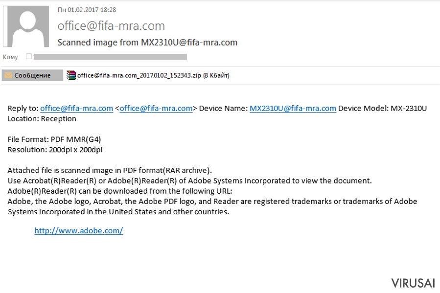 Kaip atpažinti virusu užkrėstą elektroninį laišką? ekrano nuotrauka