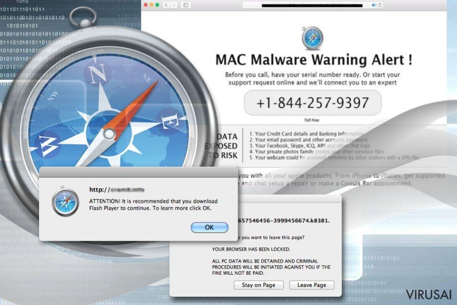 Safari nėra atspari adware tipo virusams