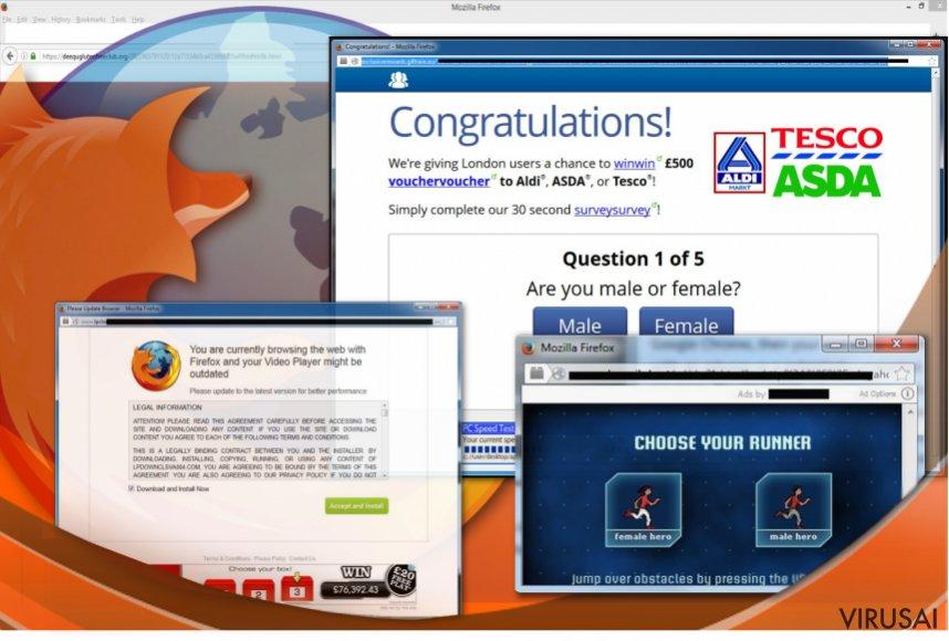 Firefox naršyklė yra itin mėgiama reklaminių programų gamintojų