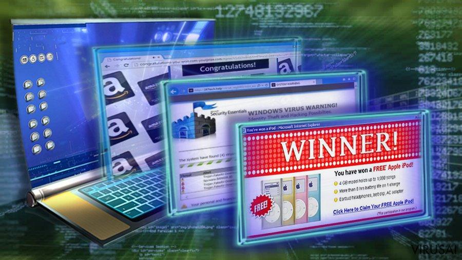 Adware tipo programos sukelia melagingas reklamas
