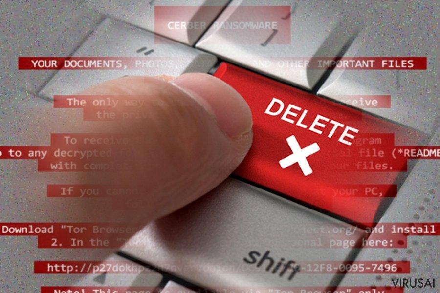 Ransomware virusų pašalinimas reikalauja specialios programos