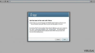 Oracle has decided to displace Ask with Yahoo! in Java updates