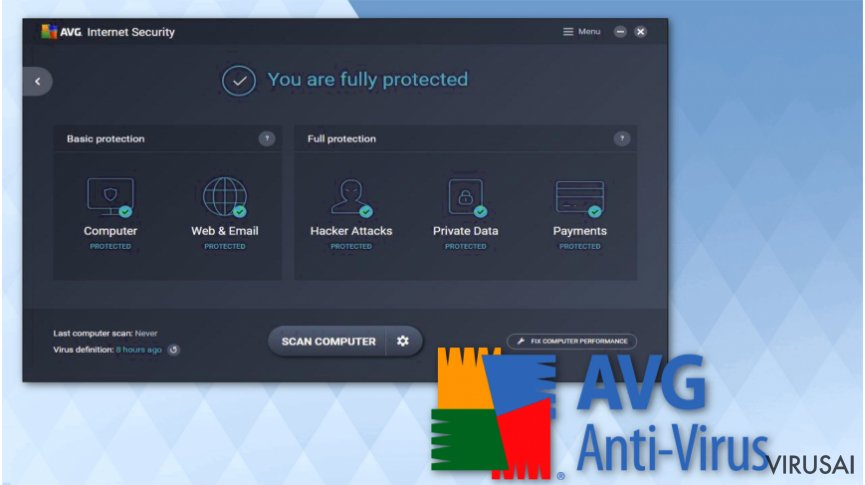 AVG AntiVirus Free iliustracija