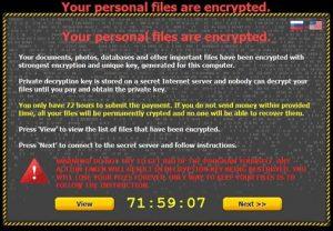 Dėmesio! Kompiuterį užblokuoti galintys virusai atnaujino savo veiklą!