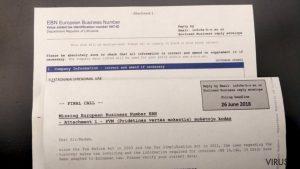 European Business Number laiškas: gudriai išvystyta apgaulė išvilioja daugiau nei 2 tūkstančius eurų iš verslininkų Lietuvoje
