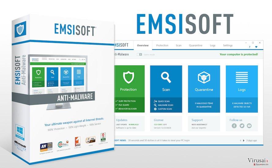Emsisoft Anti-Malware programinė įranga