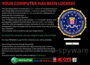 Federalinis Tyrimų Biuras (FTB) perspėja apie internetinį virusą, kuris naudoja jo vardą