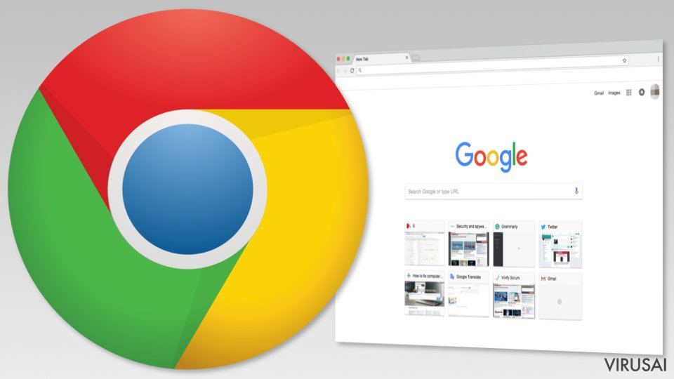 Google Chrome iliustracija