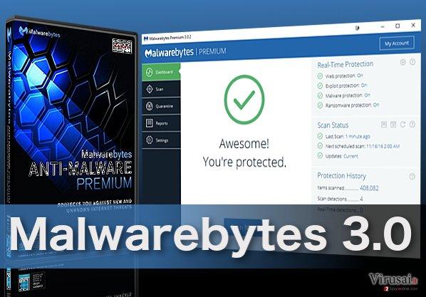 Malwarebytes 3.0 virusus šalinanti programa