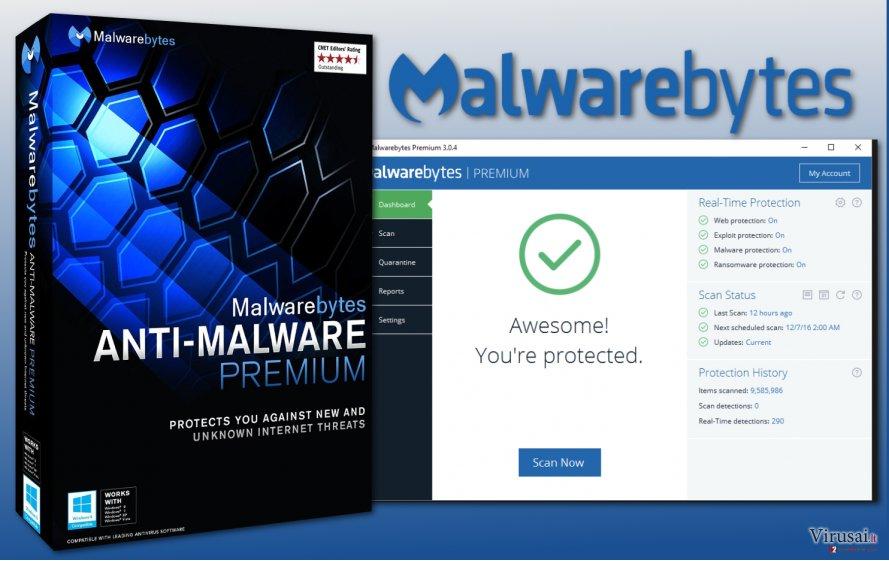 Malwarebytes 3.0 programa