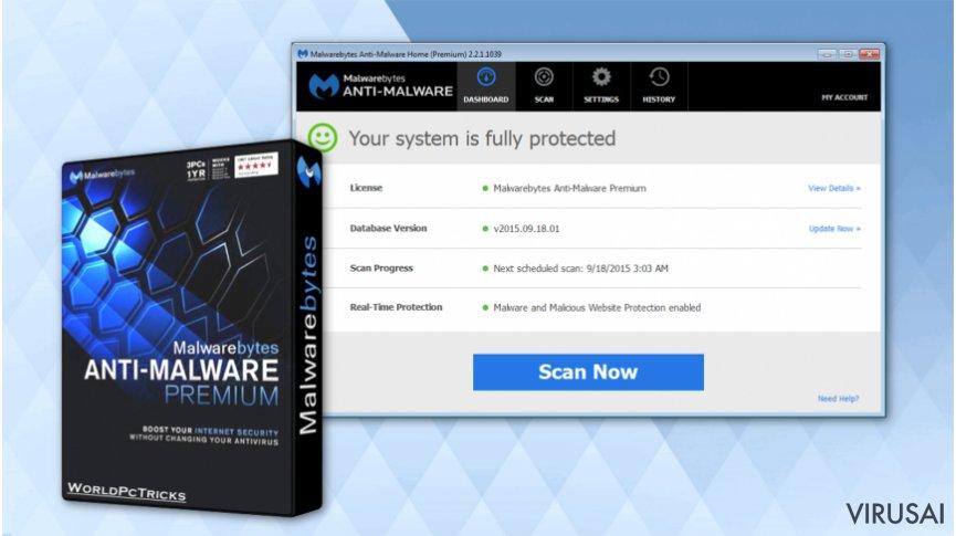 Malwarebytes Anti-Malware iliustracija