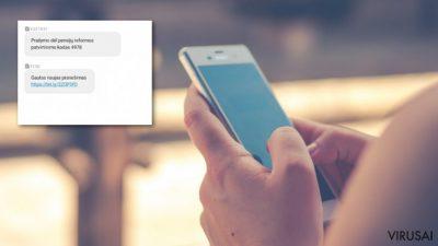 Sukčiai naudojasi banko numeriu siųsdami kenkėjiškas žinutes