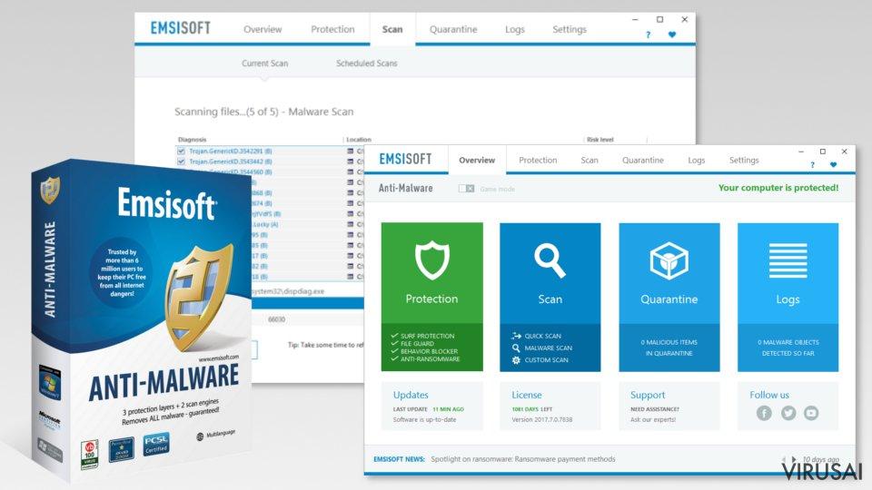 Emsisoft Anti-Malware iliustracija