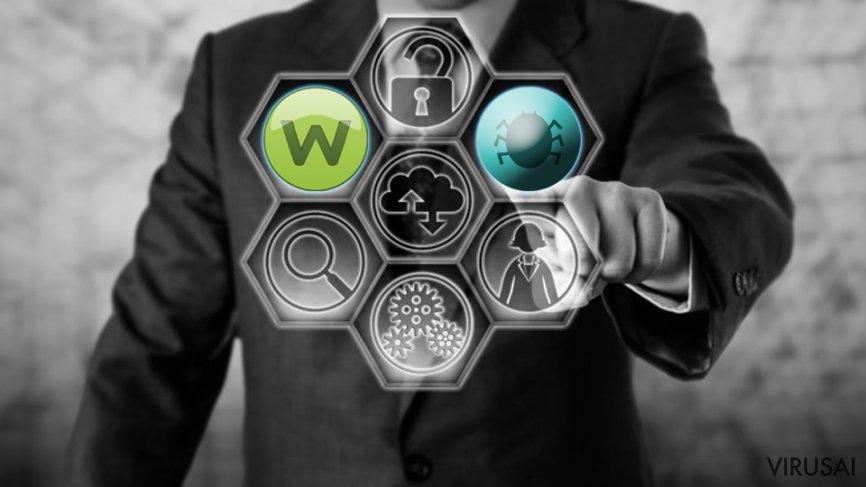 Sodinokibi ransomware virusas platinimas per Webroot SecureAnywhere konsolę