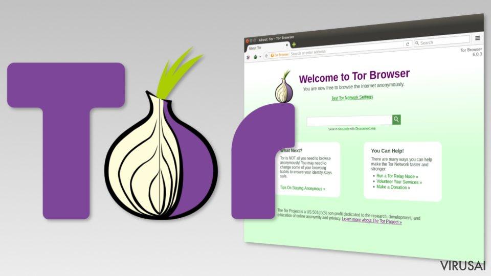 Tor naršyklės nuotrauka