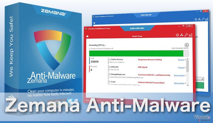 Zemana Anti-Malware virusus šalinanti programa