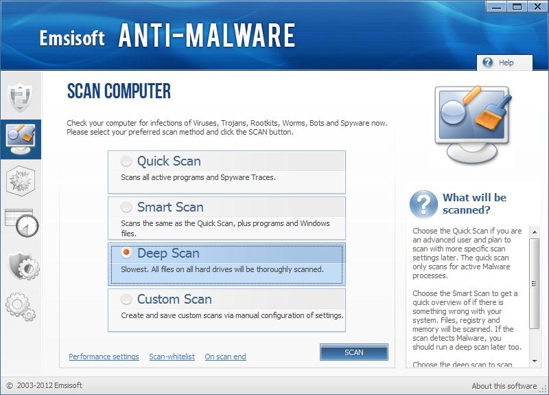 Emsisoft Anti Malware ekrano nuotrauka