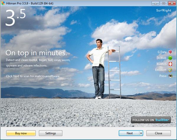 Hitman Pro ekrano nuotrauka