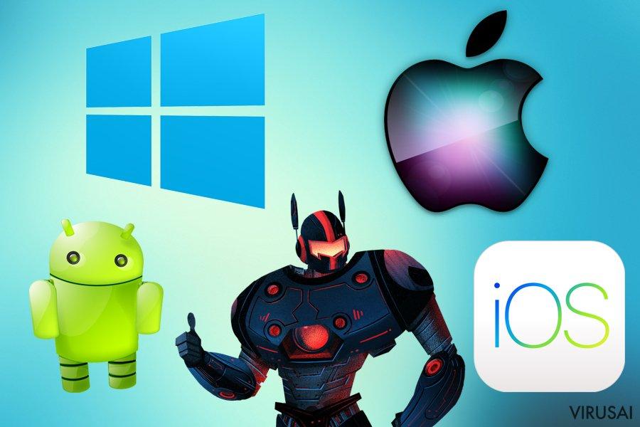 Malwarebytes skirta įvairioms platformoms