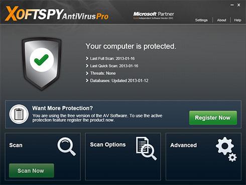 XoftSpySE Anti Spyware ekrano nuotrauka