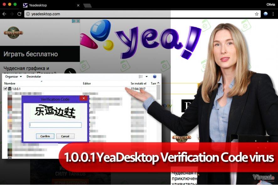 1.0.0.1 YeaDesktop verification code virusas