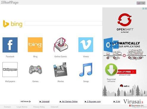 1startpage.com ekrano nuotrauka