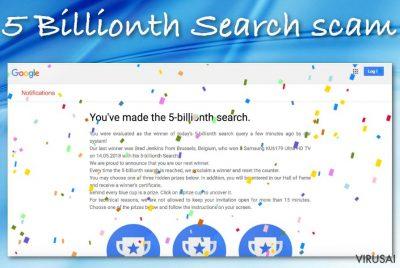 """5 Billionth Search"" apgavystė"