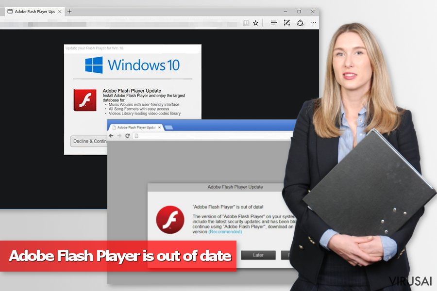 Adobe Flash Player is out of date virusas