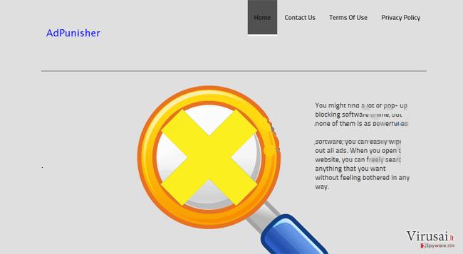 AdPunisher ekrano nuotrauka