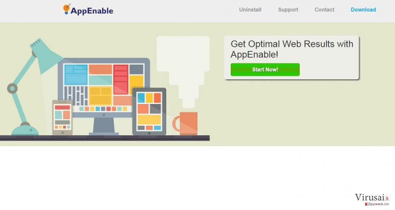 AppEnable reklamos ekrano nuotrauka