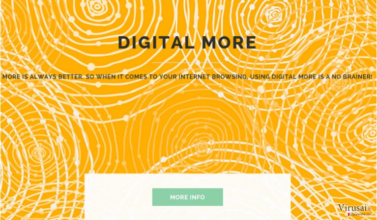Digital More reklamos ekrano nuotrauka