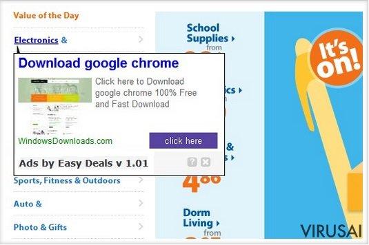 FineDealSoft virusas ekrano nuotrauka