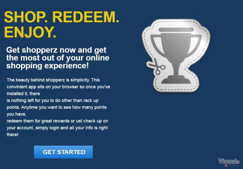 Shopperz reklamos ekrano nuotrauka