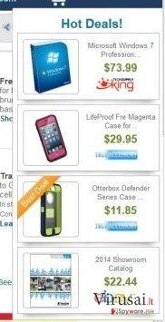 WebBrowser reklamos ekrano nuotrauka