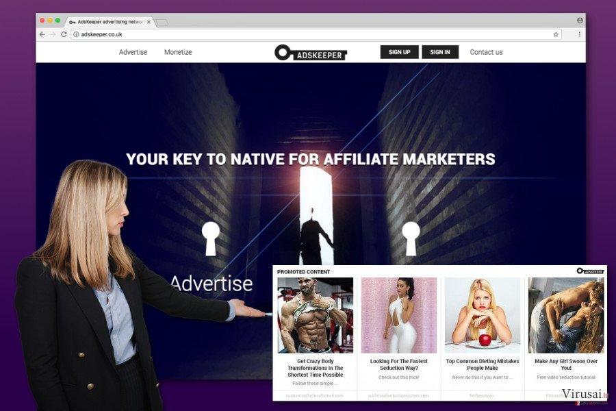 AdsKeeper reklamos
