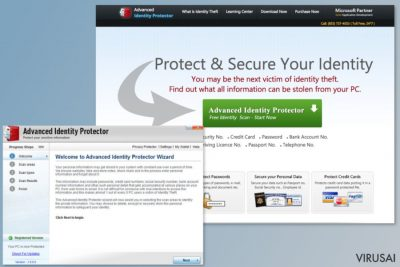 Advanced Identity Protector programos iliustracija