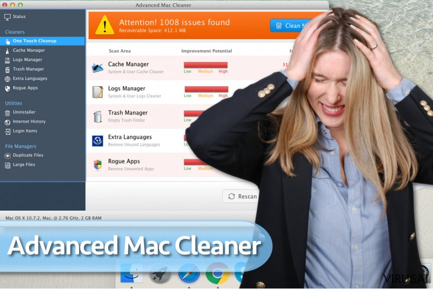 Advanced Mac Cleaner virusas