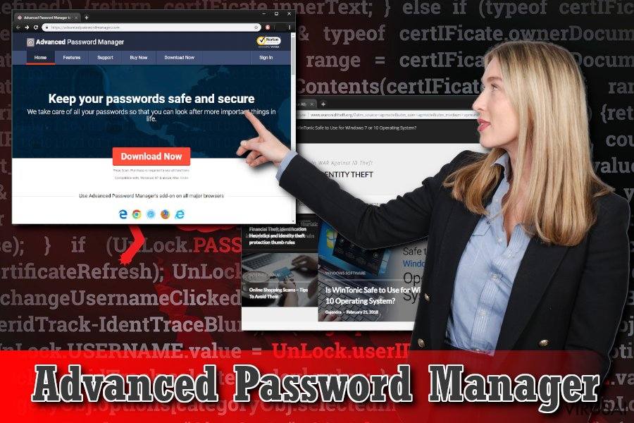 Advanced Password Manager virusas