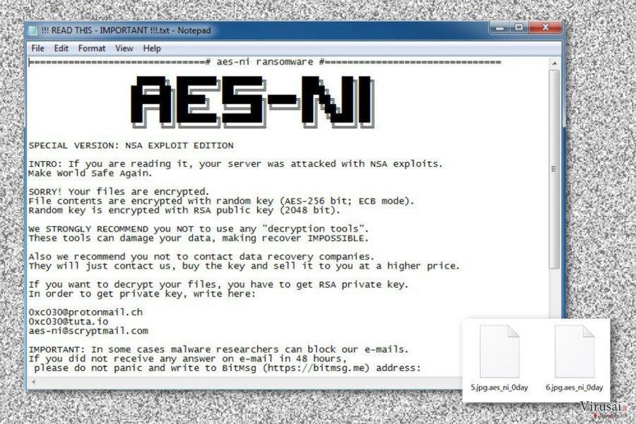 .Aes_ni_0day viruso paliktas išpirkos raštelis