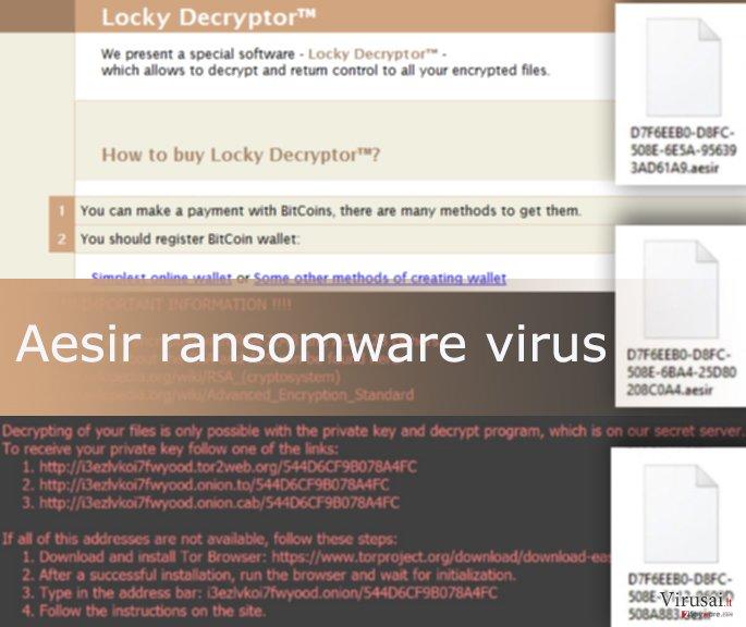 Aesir virusas užkoduoja duomenis