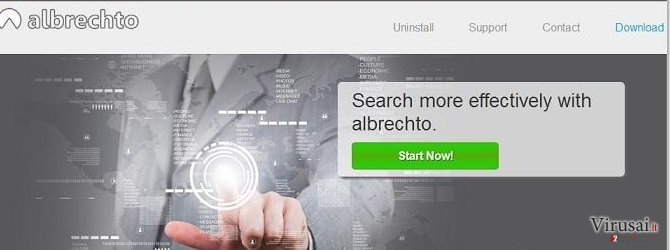 Albrechto ads ekrano nuotrauka