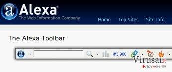 Alexa Toolbar ekrano nuotrauka