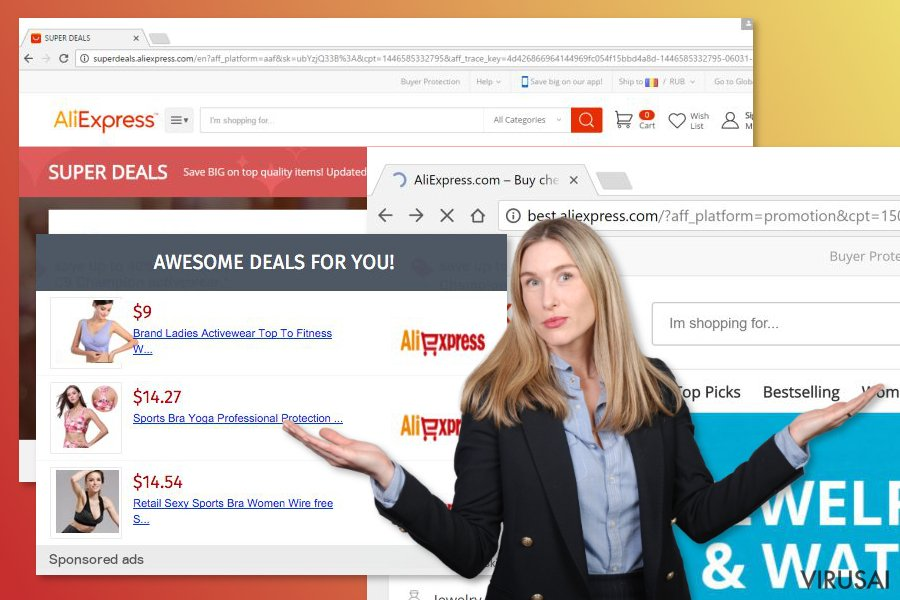 Aliexpress reklamų pavyzdžiai