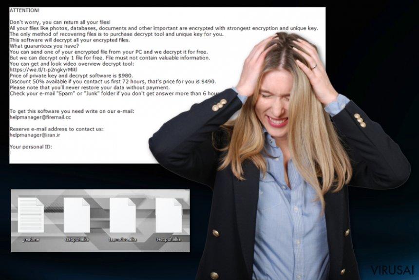 Alka ransomware virusas