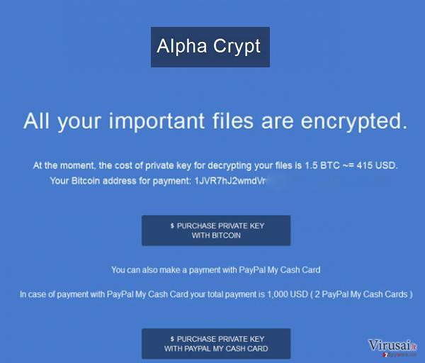 Alpha Crypt virusas