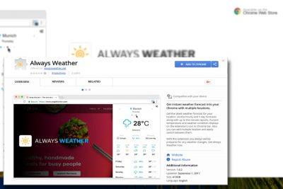 """""""Always Weather"""" plėtinio pavyzdys"""