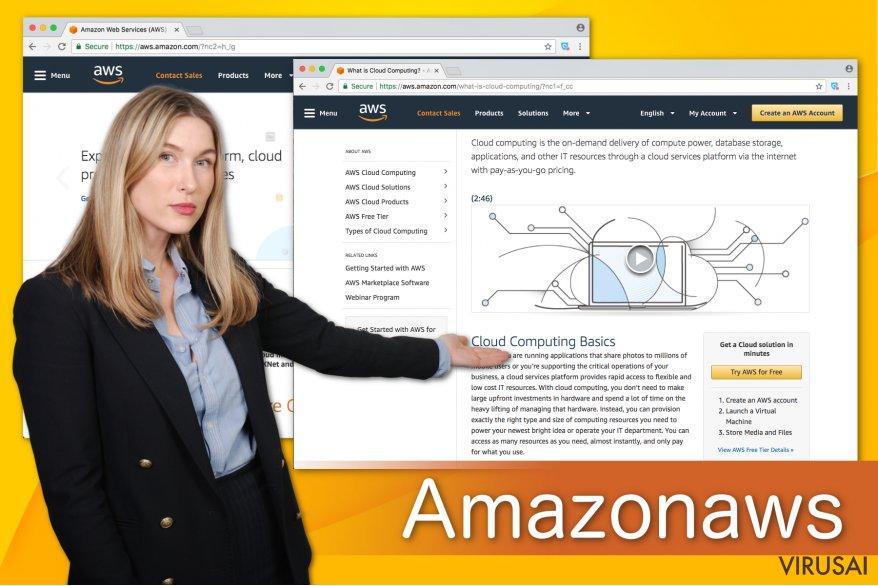 Amazonaws viruso pavyzdys