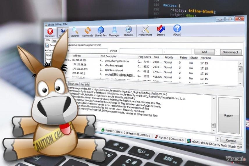 amuleC virusas ekrano nuotrauka