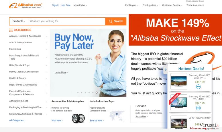 Alibaba ekrano nuotrauka