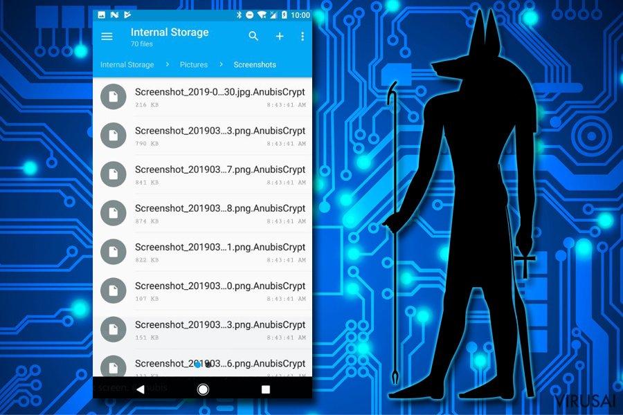 Android virusas ekrano nuotrauka